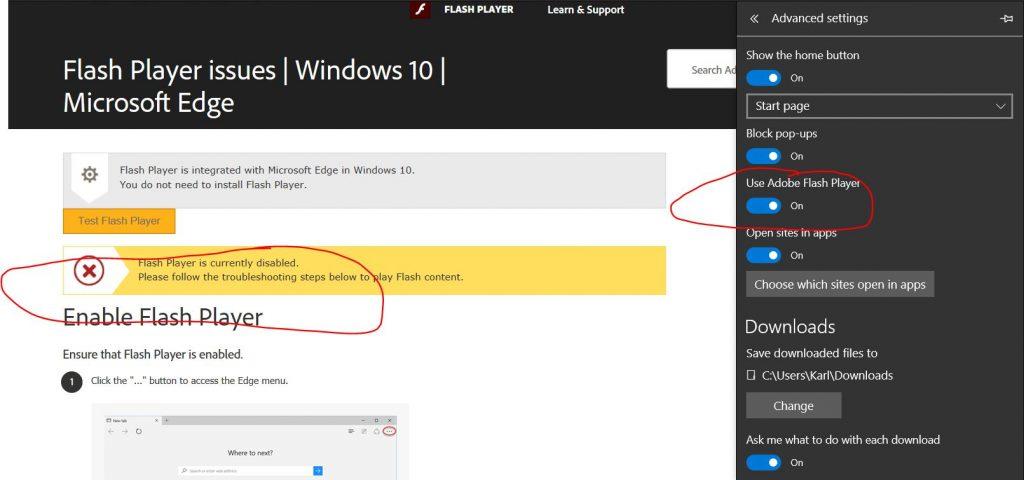 Unblock Adobe Flash Player In Microsoft Edge