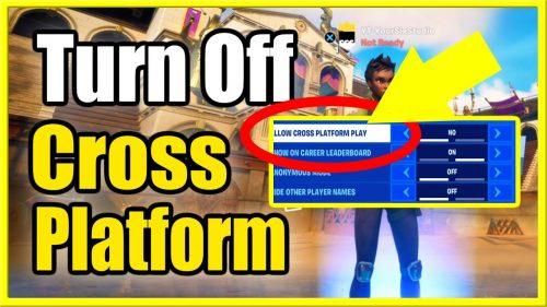 How to turn off cross-platform