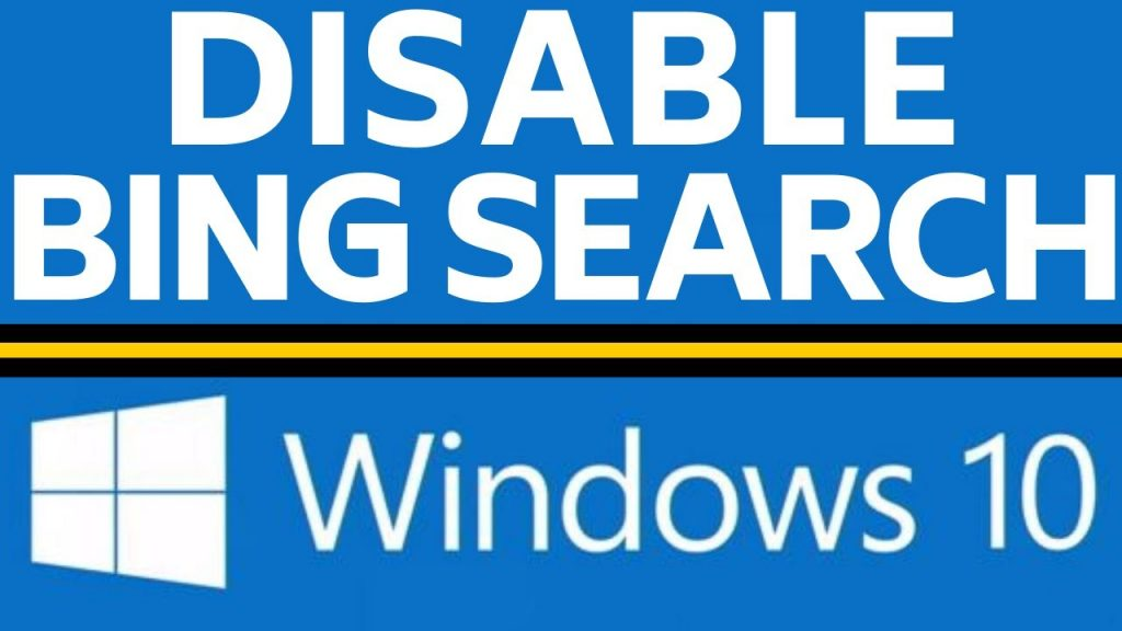 Remove Bing From Windows Search